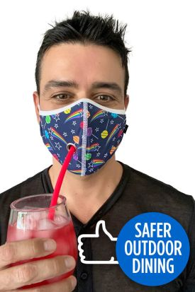 Andrew Christian Safer Outdoor Dining Lollipop Face Covering