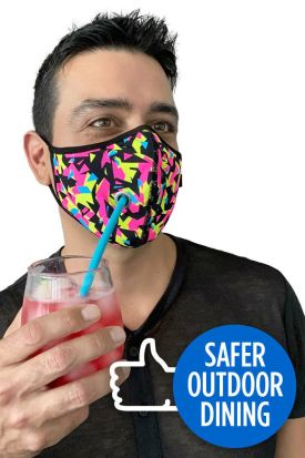 Andrew Christian Safer Outdoor Dining Fierce Face Covering
