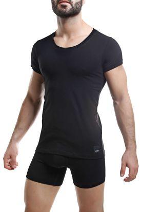 Cut for Men Crew Neck T-Shirt Black