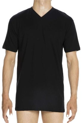 HOM Hilary 100% Cotton V-Neck T-Shirt Black