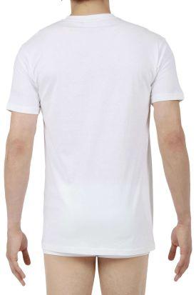 HOM Hilary Cotton V-Neck T-Shirt White
