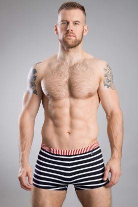 HOM Moussaillon Swim Shorts Navy/White