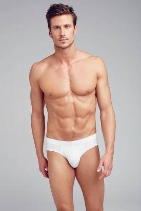 Jockey Cotton + Brief 3 pack White