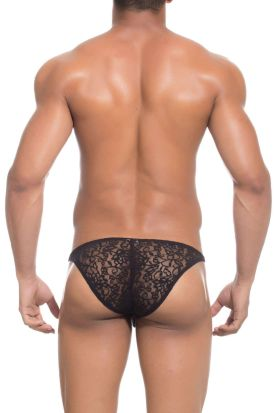 Joe Snyder Lacy Bikini Maxi Bulge 01 Black Lace