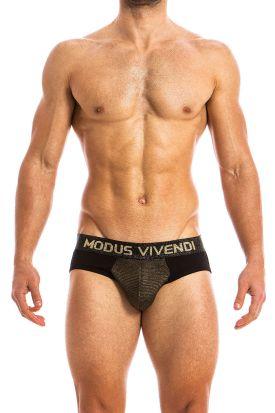 Modus Vivendi Festive Bottomless Brief Gold