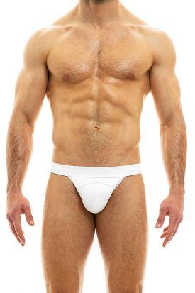 Modus Vivendi Leather Line Tanga Brief White