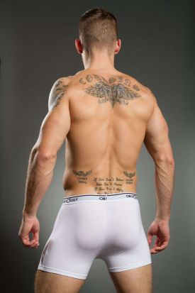 Obviously Basics Full Cut Pouch Boxer Brief White
