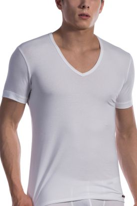 Olaf Benz RED1601 V-Neck Low T-shirt White
