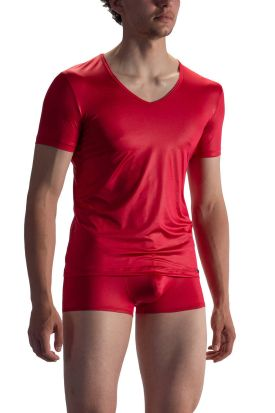 Olaf Benz RED 1804 V-Neck Low T-Shirt Red