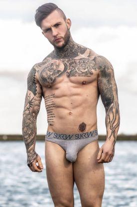 Sukrew Balmoral Classic Cotton Grey Thong